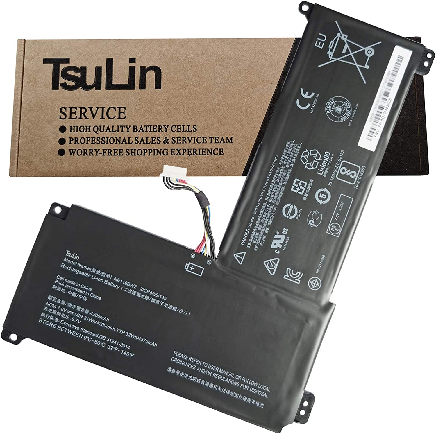TsuLin Fashionable NE116BW2 Laptop Battery Replacement 11 Lenovo Ranking TOP16 IdeaPad for