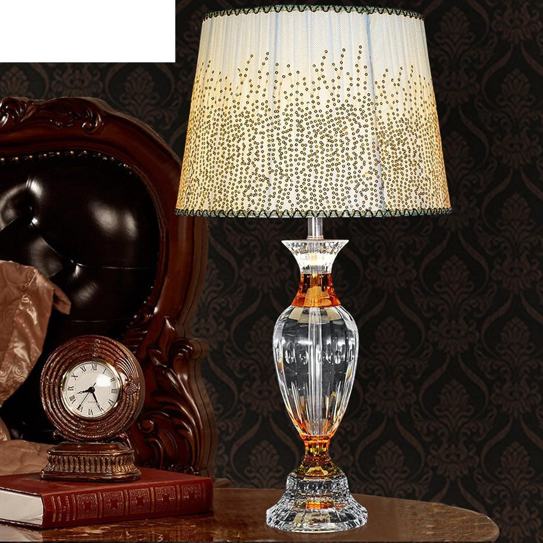 Luxuriöse,Kreative,Europäische Kristall Tischleuchte Schlafzimmer Bett Lampe Wohnzimmer Dekoration Lampe-A B071VNN7C6   Charmantes Design