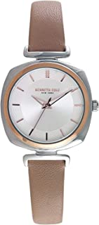 Kenneth Cole Women's SILVER Dial Genuine Leather Band Watch - KC50188004