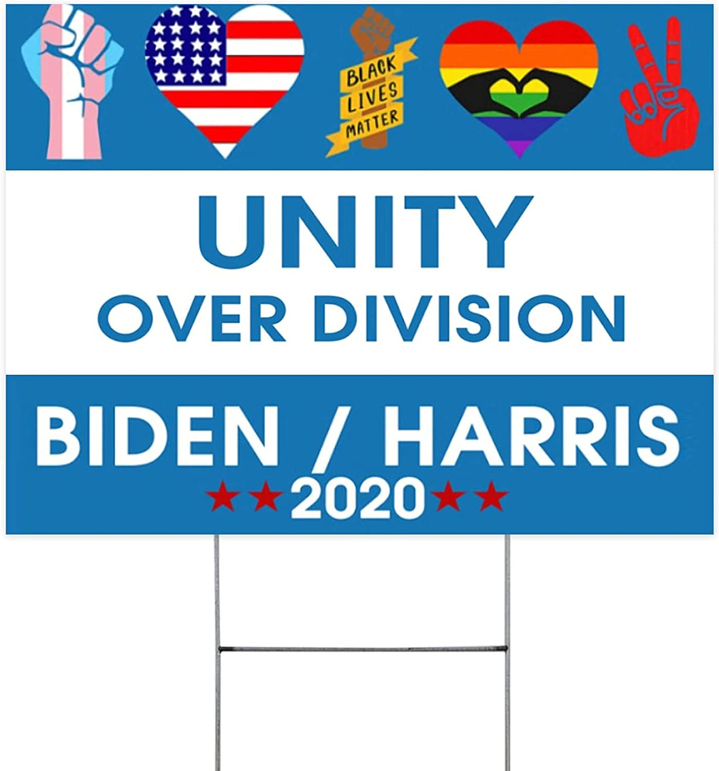 Unity Over Division Yard Lawn Sign Home Decor Printing Clearance SALE Limited time 1 Sided Shipping included 2