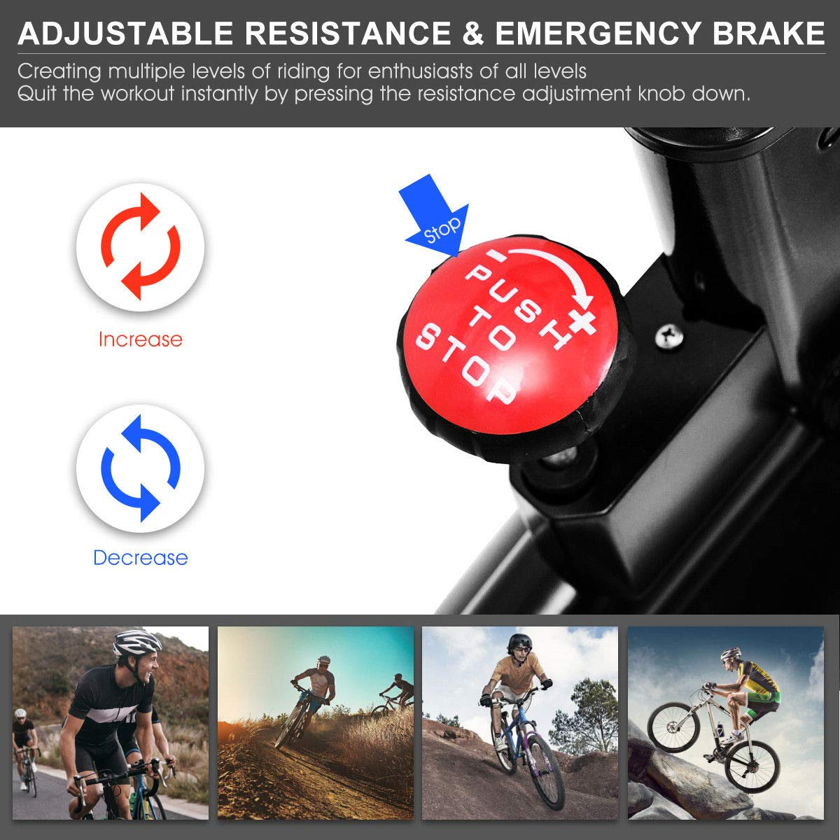 GOPLUS Ajustable Ejercicio Bicicleta 30 LB Volante Interior ...