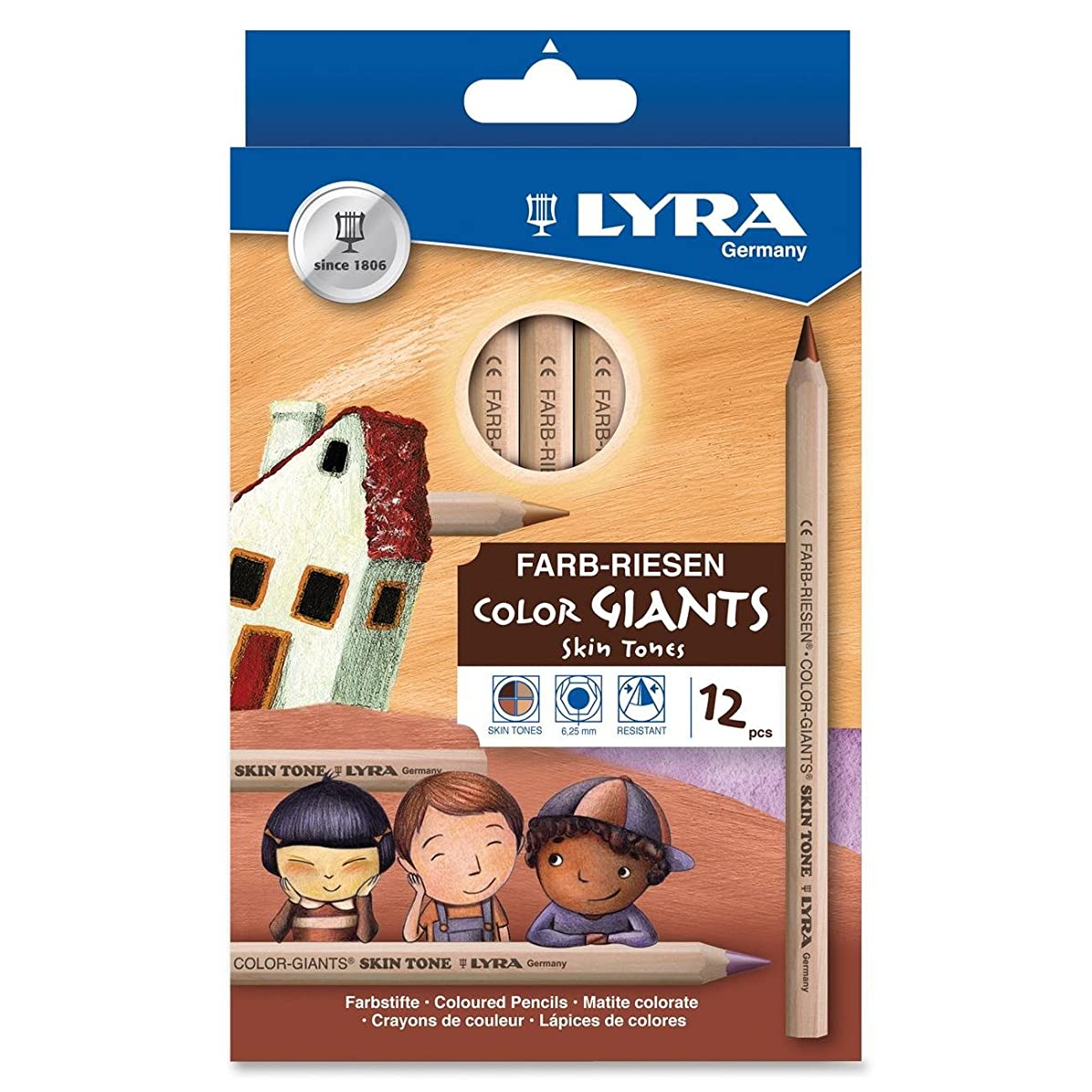 Dixon Ticonderoga Company Lyra Color Giants Skin Tone Colored Pencils (DIX3931124)
