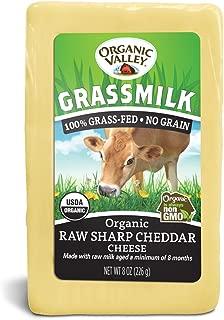 Organic Valley, Organic Grassmilk Raw Sharp Cheddar Cheese - 8 oz Block (Individually Wrapped)