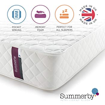 Summerby Sleep No3. Pocket Spring and Memory Foam Hybrid Mattress | Double: 137cm x 190cm