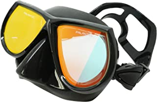 Palantic Spearfishing Free Dive Low Volume Black Mask with Mirror Coated Lenses
