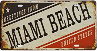 Rockin Gear License Plate Greetings from Miami Beach Souvenir 12