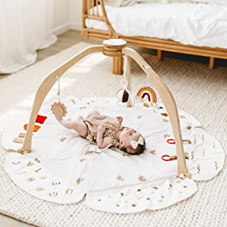 Baby Play Gym, Baby Play Mat Stage-Based Developmental Baby Gym and Playmats for Baby, Newborn, Infant Activity Gym with 3...