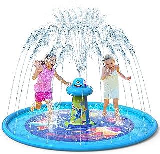 """VATOS Splash Pad Aspersor de Juegos de Agua - Almohadilla de Juego de Agua Antideslizante de 67"""" con Diseño UFO, Aspersor ..."""
