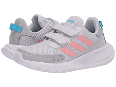 adidas Kids Tensaur Run (Little Kid) (Dash Grey/Glory Pink/Bright Cyan 1) Girl