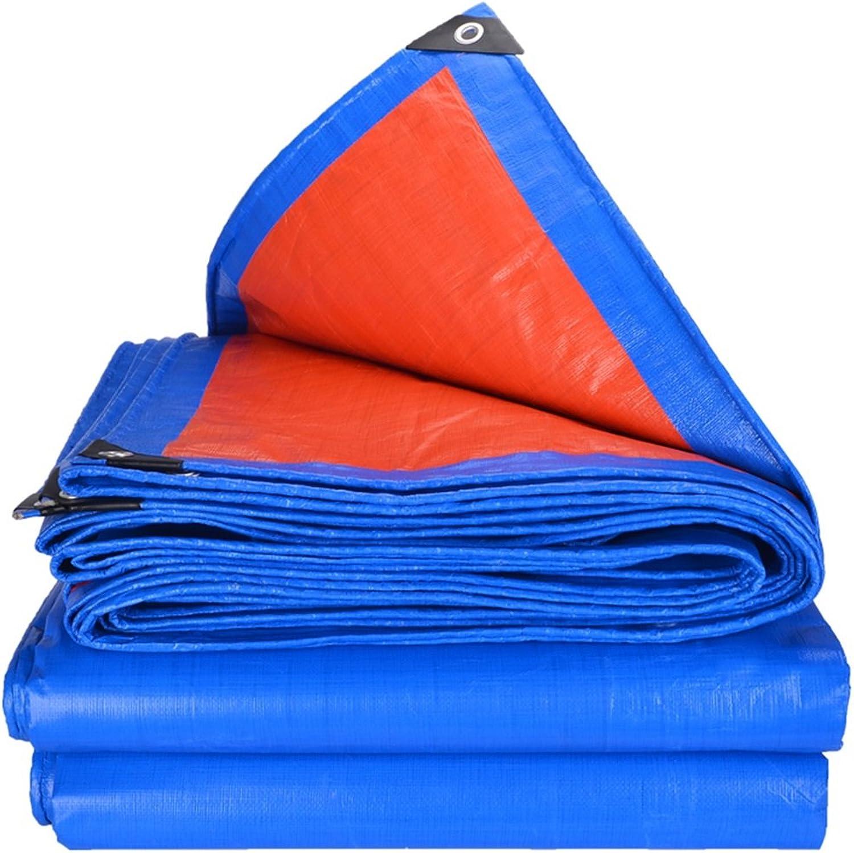 MILAYA Verdickte Regendichte Plane, Im Freien Wasserdichte Sonnenschutz Sonnenschutz Sonnenschutz Stoff LKW Gebäude Regen Schatten Tuch - Blau Orange  (größe   3x5m) B07P4WG8KR  Attraktiv und langlebig f4f959