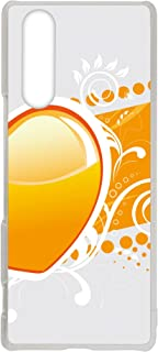 WHITENUTS Xperia 5 J9210 ケース クリア ハード プリント パターンD (cw-1509) スマホケース エクスペリア ファイブ スリム 薄型 カバー 全機種対応 WN-PR3860256