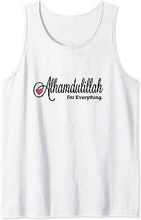 Alhamdulillah For Everytinhg Thank God in Arabic Tank Top