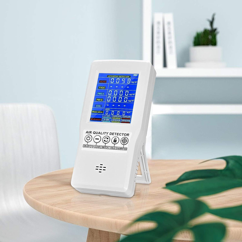 S SMAUTOP Medidor de co2 Ambiente - Detector co2 con medidor Calidad de Aire Interior - higrometro Digital medidor