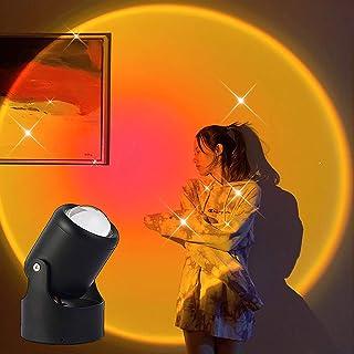 WOERD Rainbow Projection Lamp Night Light Lamp 180° Rotation Rainbow Projection Lamp Romantic LED Rainbow Night Light Proj...