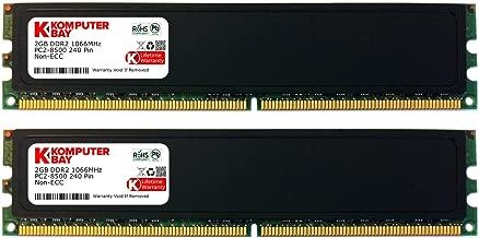 Komputerbay 4GB 2X 2GB DDR2 1066MHz PC2-8500 DDR2 1066 (240 PIN) DIMM Desktop Memory with Heatspreaders