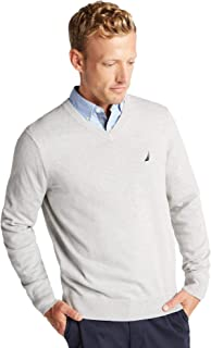 Men's Classic Fit Soft Lightweight Jersey V-Neck Sweater