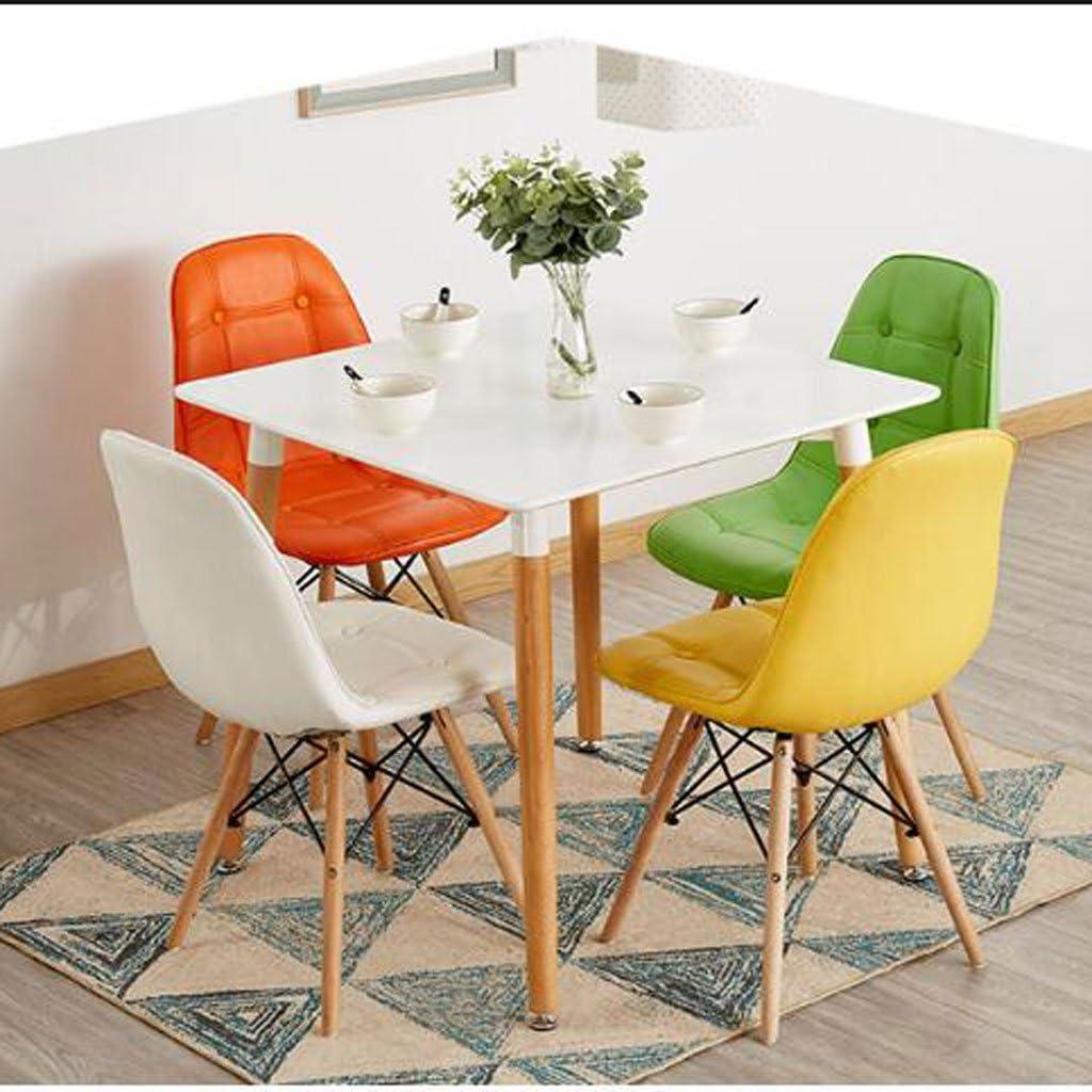 HXF- Chaise Créativité Moderne Simple Étude Chaise de Bureau Bureau Tabouret Dossier Adulte Chaise À Manger Durable (Color : D) C