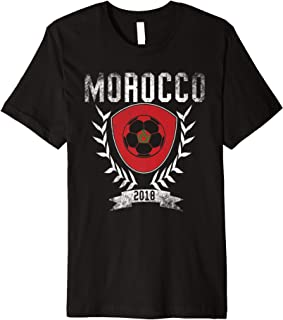 Moroccan Football Cup 2018 T-Shirt - Morocco Soccer Jersey
