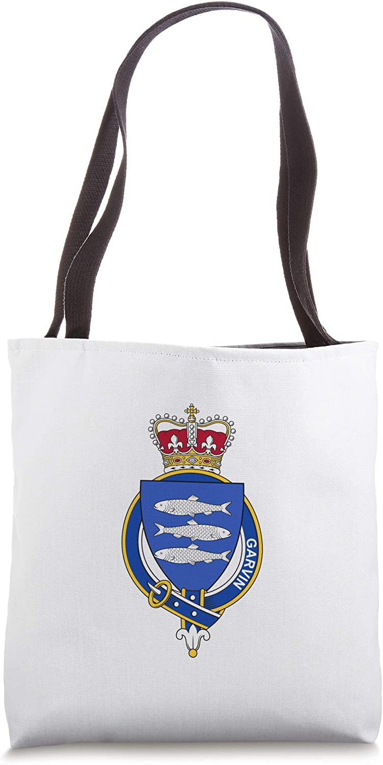 Garvin Coat of Arms - Family Crest Tote Bag