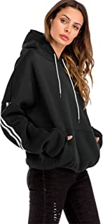 Women's Casual Loose Pocket Front Long Sleeve Tunic Hooded Pullover Sweatshirt
