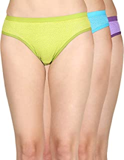 Cuya Polka Dot Printed Women's Multicolor Brief/Hipster Bikini Panties - Pack of 3