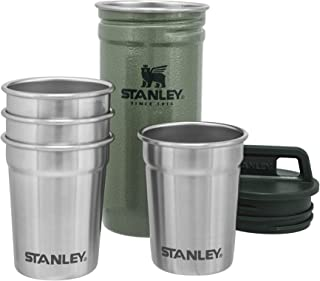 Stanley Adventure Nesting Shot Glass Set, 4 Stainless Steel Shot Glasses with Rugged Metal Travel...