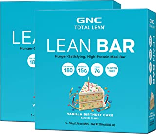 GNC Total Lean Lean Bar - Vanilla Birthday Cake - Twin Pack