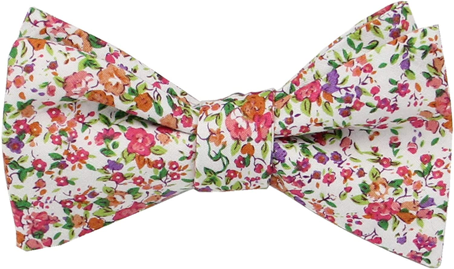 Mens Floral Self Tie Bowties - 100% Cotton Butterfly Bow Ties - Wedding - Gift