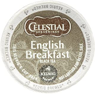 Celestial Seasonings English Breakfast Black Tea, K-Cup Portion Pack for Keurig K-Cup Brewers, 60-Count (Packaging May Vary)