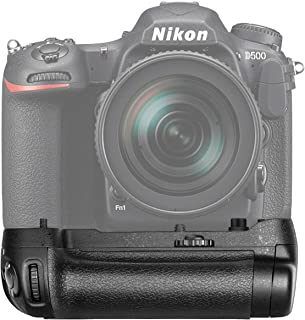 Neewer Battery Grip (MB-D17 Replacement) Work with 1 Piece EN-EL15 Battery or 8 Pieces AA Batteries for Nikon D500 Camera