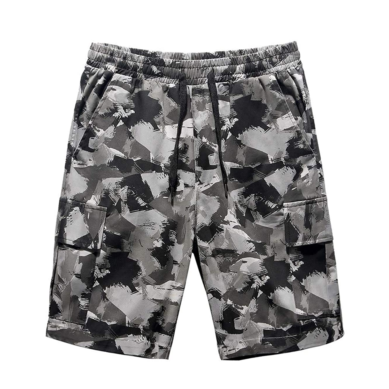 Fitfulvan Shorts Men's Loose Camouflage Printed Shorts Personalized Casual Sweatpants Summer Fashion Loose Beach Pants