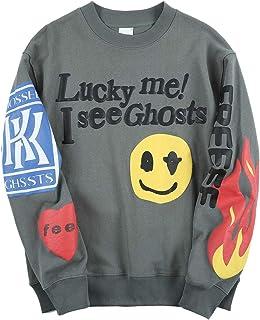 cpfm.xyz Lucky me I See Ghosts Sweatshirt Hip Hop Rapper Crewneck Pullover Hoodie