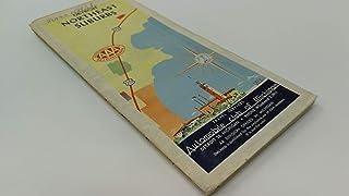Vintage 1950s Original AAA Street Map for Detroit Northeast Suburbs