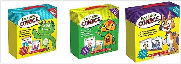 Scholastic First Little Comics Parent Packs Set (3 Packs) - Levels A & B, Levels C & D, Levels E & F