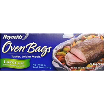 Reynolds Oven Cooking Bags-Large Size for Meats & Poultry (up to 8-Pounds), 5 Count Boxes (Pack of 4) 20 Bags Total