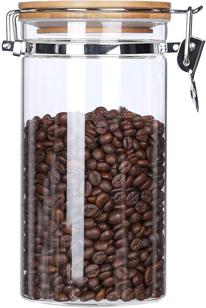 177 opinioni per KKC Barattolo Vetro Ermetico per Chicchi di caffè,Cereali,Fagioli,tè,Contenitore