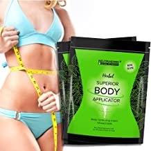 Neutriherbs 45 Min Ultimate Body Wraps Applicator (10) Plus Bonus Slimming Shape Up Wrap Strap, Weight Loss,Tones Tightens and Firms