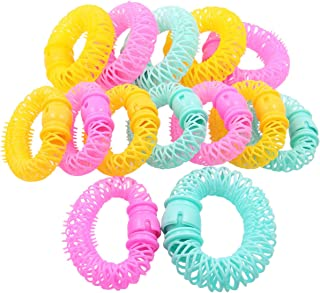 QY 14PCS Plastic Hair Curly Curler Magic Donut Rollers Circle Spiral Roll Wave Hairstyle Maker Wave DIY Hair Accessory