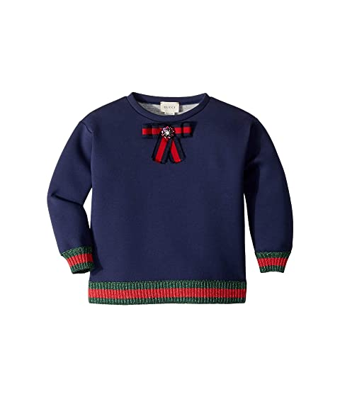 Gucci Kids Jersey Sweatshirt w/ Bow (Little Kids/Big Kids)