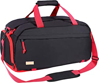 MOSISO Gym Sports Sack Bag Nylon Water Resistant Travel Overnight Weekender Luggage Duffel with Shoe Compartment