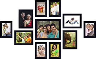 Amazon Brand - Solimo Collage Photo Frames (Set of 11, Wall Hanging),Black (SOL-HD-PF2)