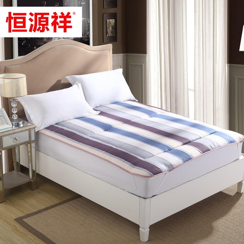 Stripe Foldable Summer Mattress,Tatami Simple Sleeping Pad Mattress 1.8m 1.5m Mattress Topper-A 150  200cm(59x79inch)