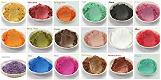 15-Color Pigments Shimmer Mica Powder - DIY Soap Making, Candle Making,Resin Dye, Mica Powder Organic for Soap Molds (3 Grams Each, 45 Grams Total)