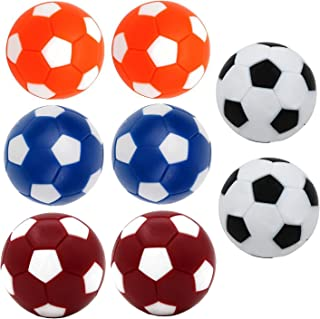 Qtimal Table Soccer Foosballs Replacement Balls, Mini Colorful 36mm Official Tabletop Game Ball - Set of 8