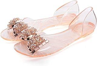 Dear Time Summer Women Jelly Sandal Shoes Slip On Bowtie Slippers