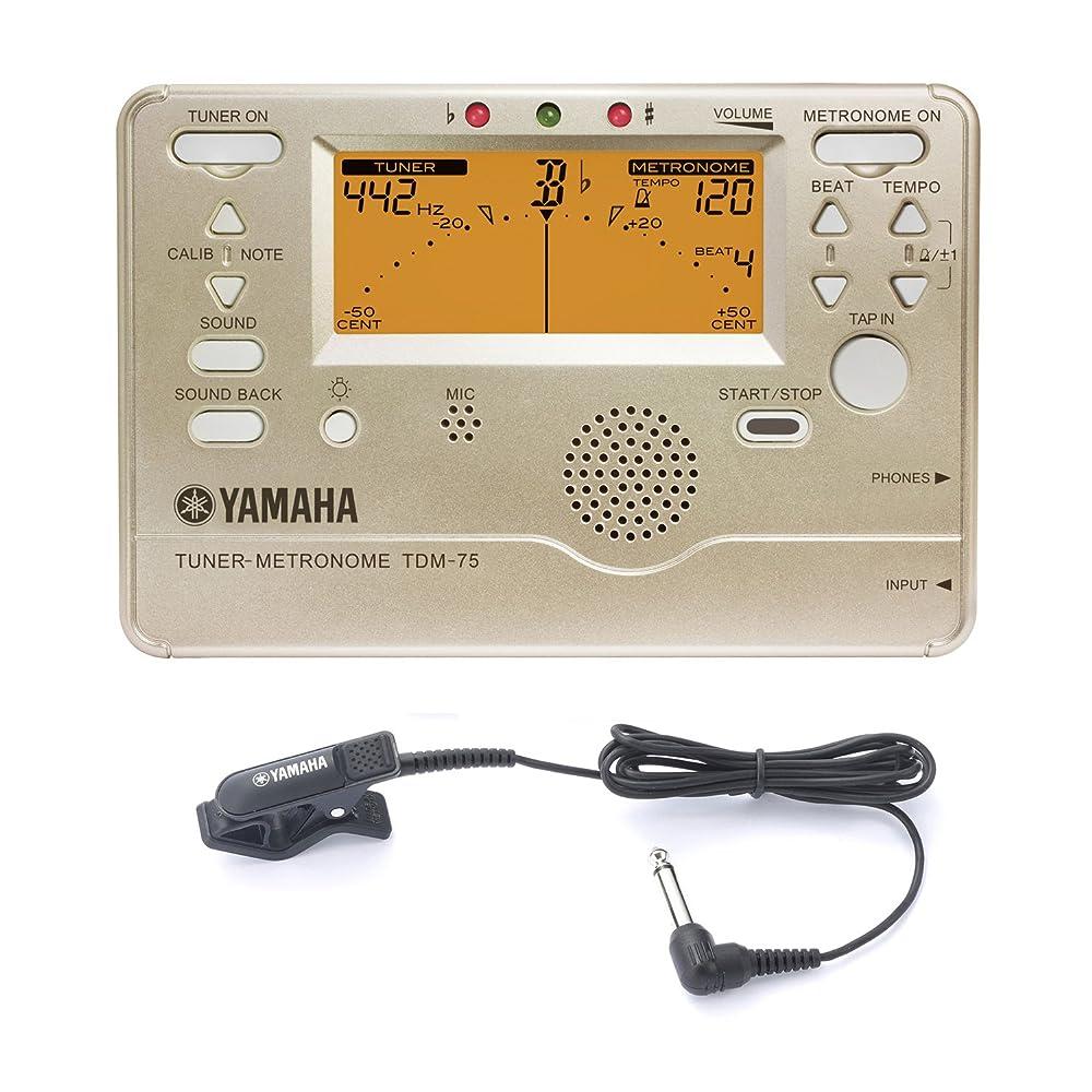 応じる扇動ふけるYAMAHA チューナーメトロノーム (専用マイクロフォン付属)TDM-75A2