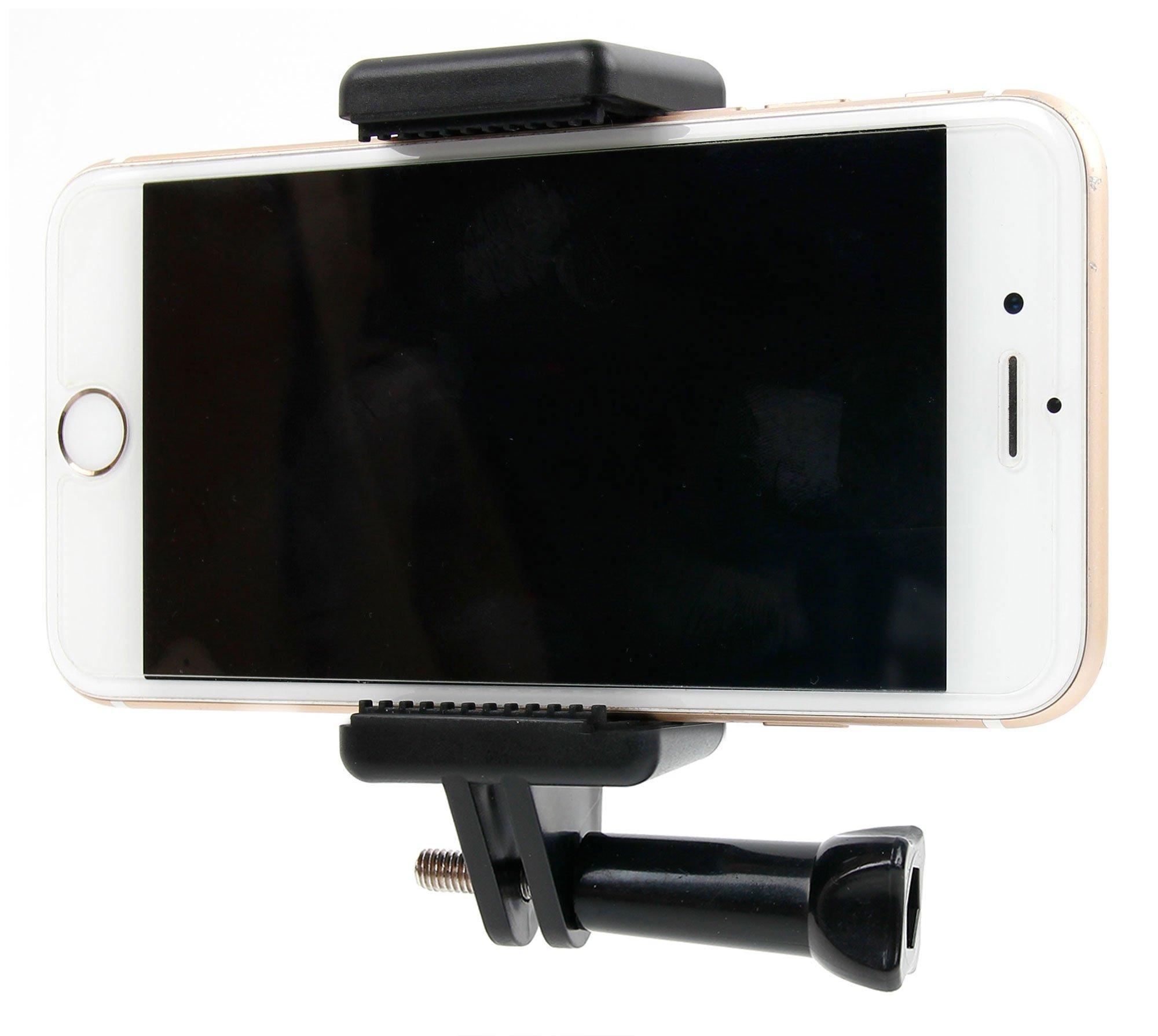 Soporte de cabeza y de soporte para smartphone para WIKO Jerry + Sunny Max, upulse + WIM (Lite), Lenny 3 Max, Jerry 2 + Sunny 2 + Tommy 2 LS Smartphone. GoPro