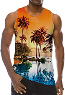 Mens 3D Printed Breathable Tank Top Funny All-Over Graphic Soft Lightweight Tees S-XXL