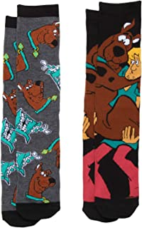 Scooby Doo Shaggy and Scooby & Scooby Snacks 2-pack Adult Crew Socks