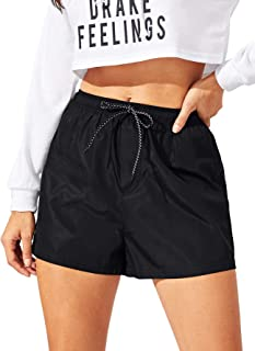 SweatyRocks Women's Sports Shorts Drawstring Elastic Waist Summer Hot Pants